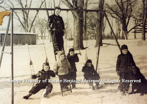 133.04 Taylor Home Children in Snow 100 dpi watermark